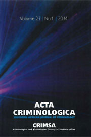 CRIMSA Journal: Acta Criminologica